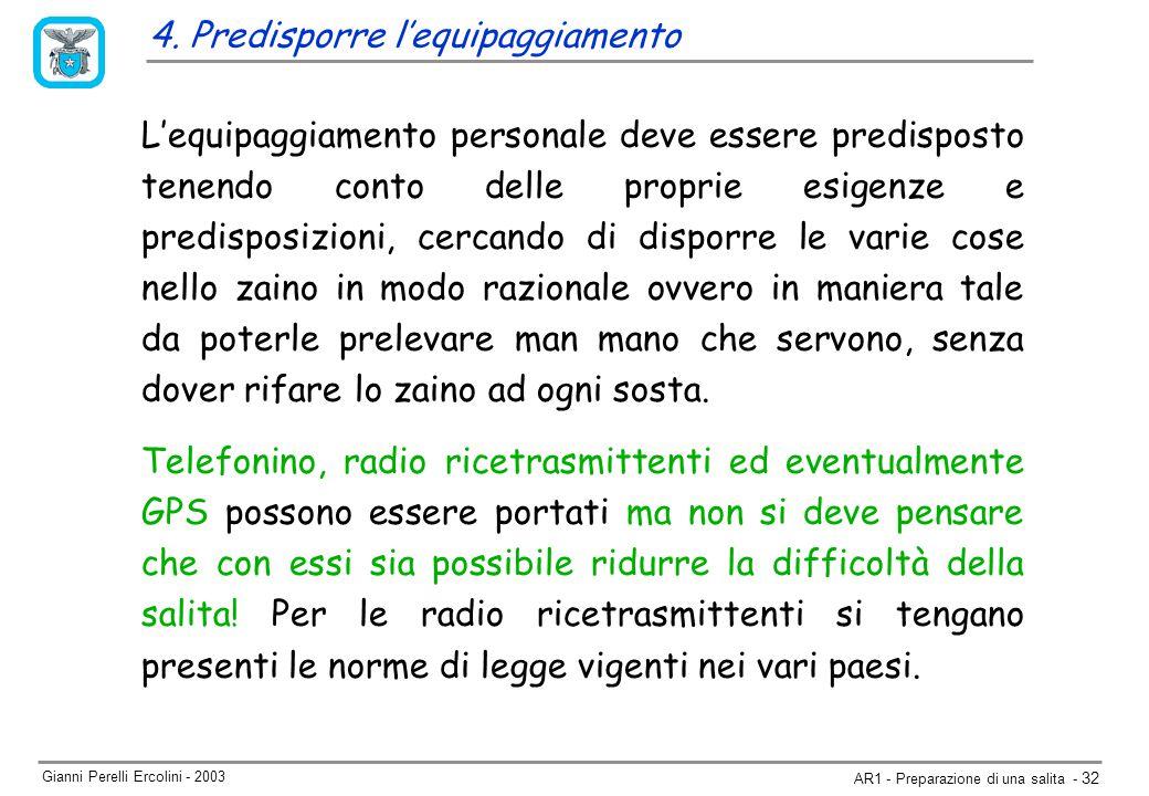 Gianni Perelli Ercolini - 2003 AR1 - Preparazione di una salita - 32 4.