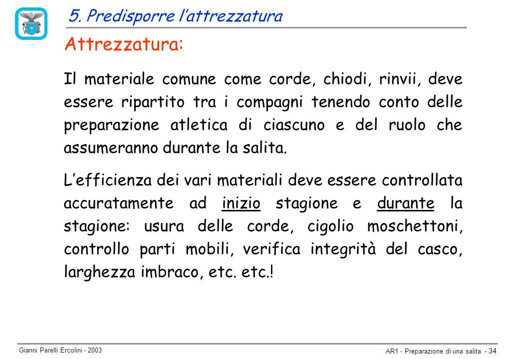 Gianni Perelli Ercolini - 2003 AR1 - Preparazione di una salita - 34 5.