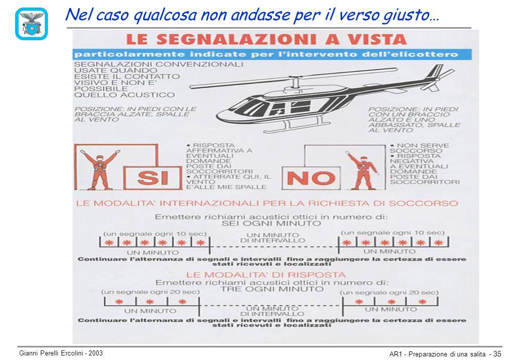 Gianni Perelli Ercolini - 2003 AR1 - Preparazione di una salita - 35 Nel caso qualcosa non andasse per il verso giusto…