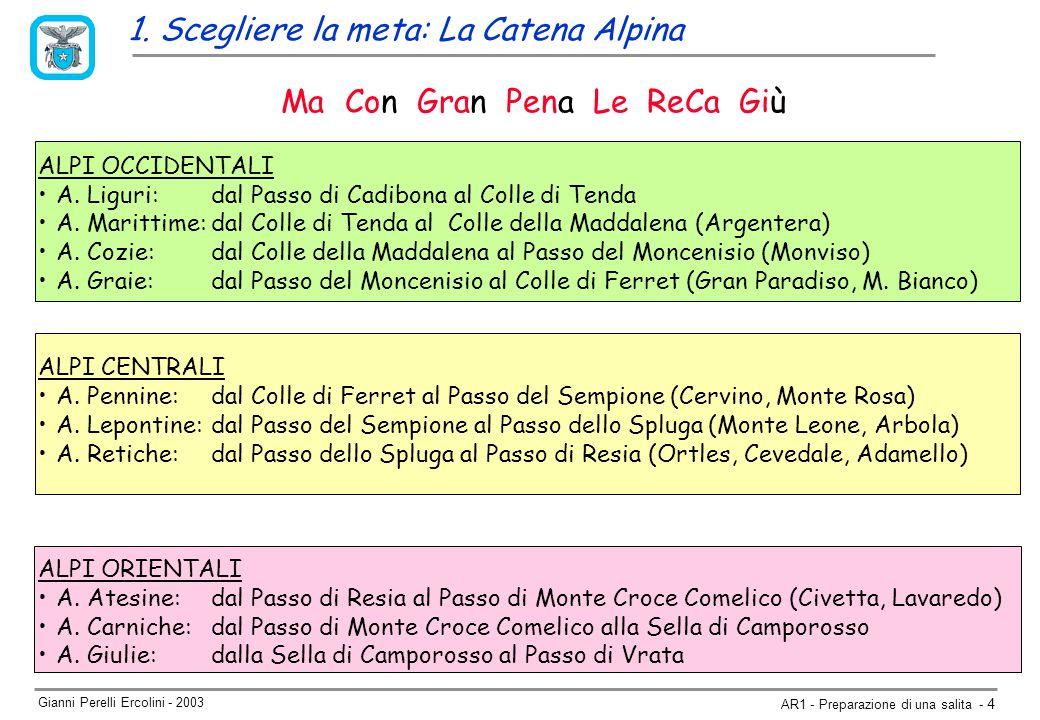 Gianni Perelli Ercolini - 2003 AR1 - Preparazione di una salita - 4 ALPI OCCIDENTALI A.