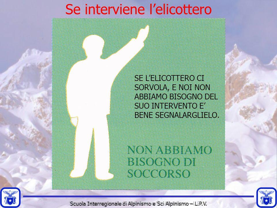 Scuola Interregionale di Alpinismo e Sci Alpinismo – L.P.V. Se interviene l'elicottero SE L'ELICOTTERO CI SORVOLA, E NOI NON ABBIAMO BISOGNO DEL SUO I