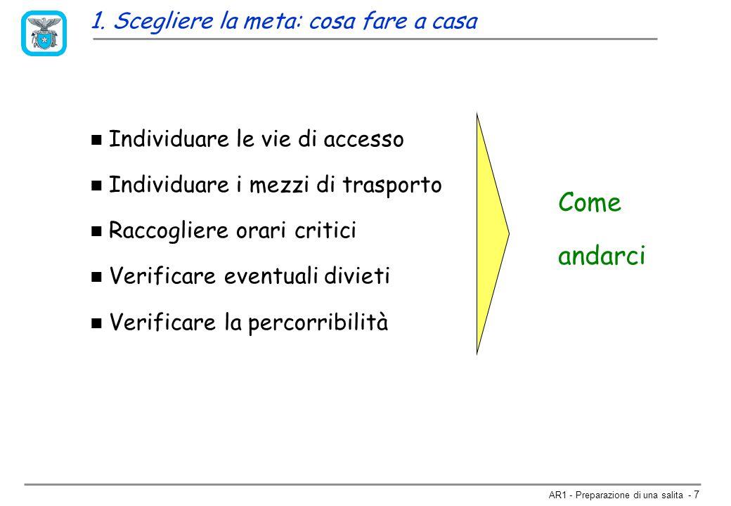 AR1 - Preparazione di una salita - 27 Previsione a breve termine www.meteosvizzera.ch/ Regione Piemontehttp://www.regione.piemonte.it/meteo/ Centro Geofisico Prealpino, Varesehttp://www.astrogeo.va.it/prevmete.htm Meteo Svizzerahttp://www.sma.ch/ital/sma.htmlhttp://www.sma.ch/ital/sma.html Ticino Online (Locarno Monti)http://www.ticino.ch/meteohttp://www.ticino.ch/meteo Meteo Francehttp://www.meteo.fr/index.html 2.