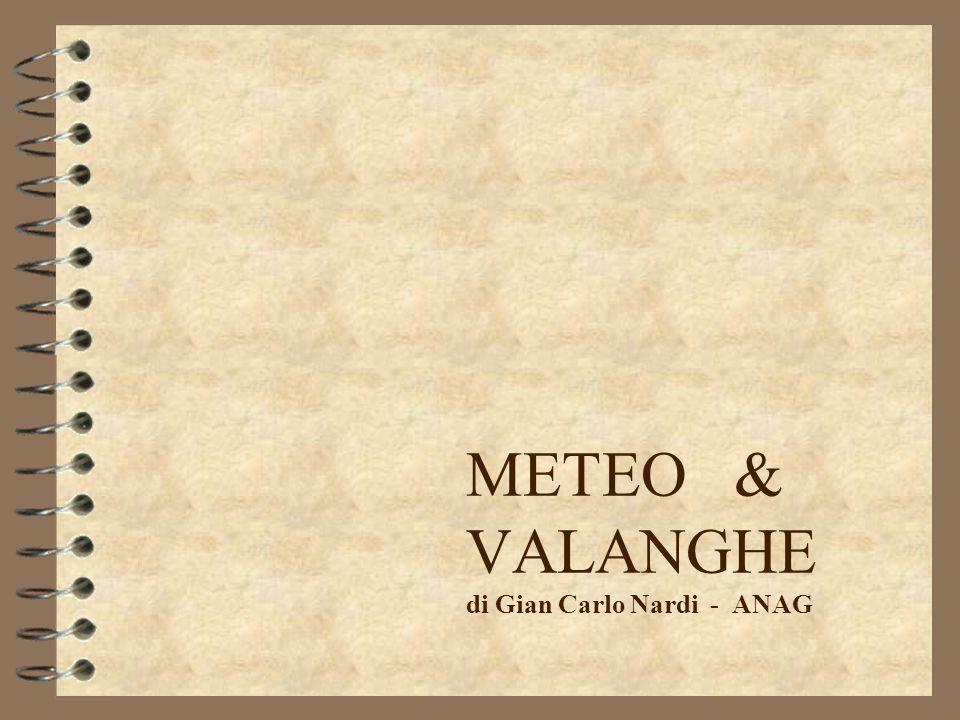 METEO & VALANGHE di Gian Carlo Nardi - ANAG