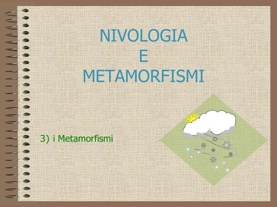 NIVOLOGIA E METAMORFISMI 3) i Metamorfismi