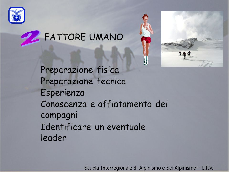 FATTORE UMANO Alberto Bertinaria: Il fattore umano gioca un ruolo molto importante.
