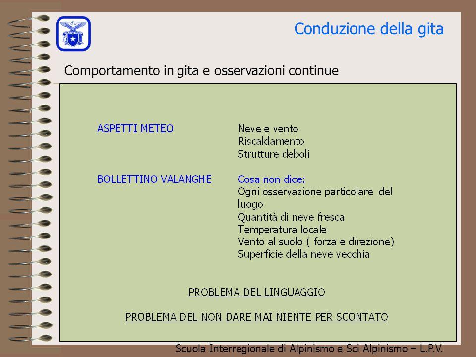 Scuola Interregionale di Alpinismo e Sci Alpinismo – L.P.V. Conduzione della gita Le valanghe: cause oggettive e cause soggettive