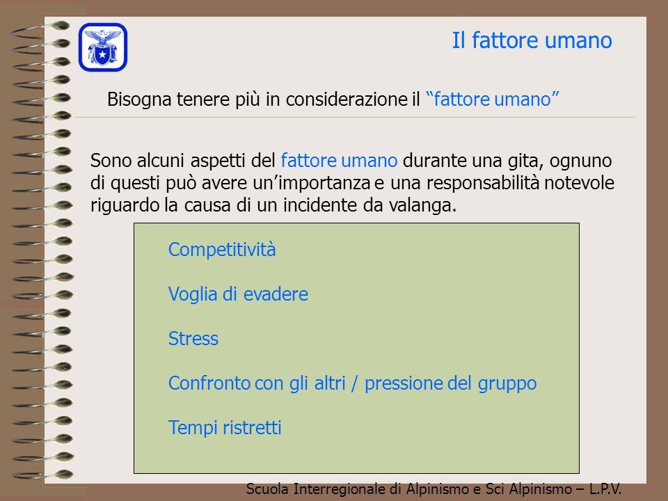 Scuola Interregionale di Alpinismo e Sci Alpinismo – L.P.V. Filtro del posto Regola del 3 X 3 (Munter)