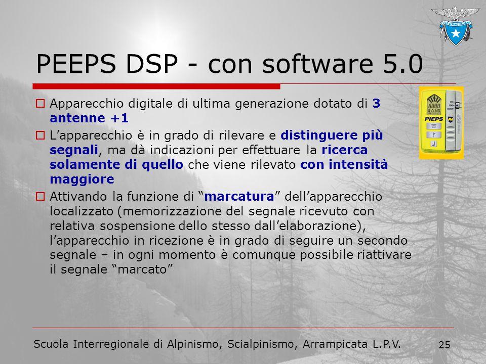 Scuola Interregionale di Alpinismo, Scialpinismo, Arrampicata L.P.V. 25 PEEPS DSP - con software 5.0  Apparecchio digitale di ultima generazione dota