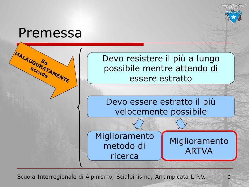 Scuola Interregionale di Alpinismo, Scialpinismo, Arrampicata L.P.V. 3 Se MALAUGURATAMENTE accade Premessa Devo essere estratto il più velocemente pos
