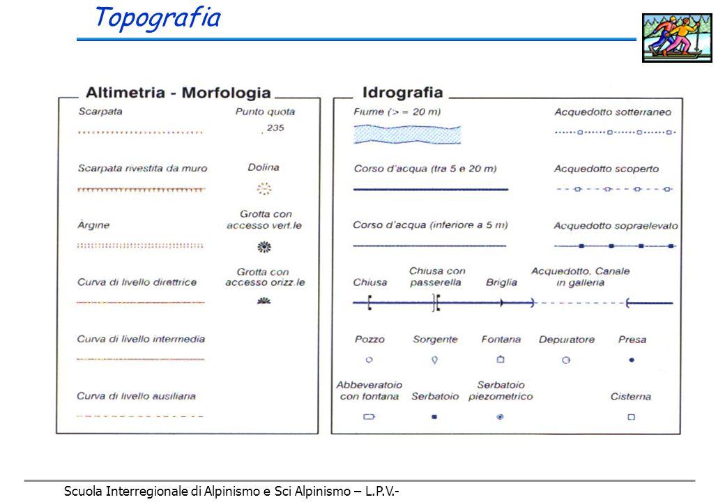 Scuola Interregionale di Alpinismo e Sci Alpinismo – L.P.V.- Topografia