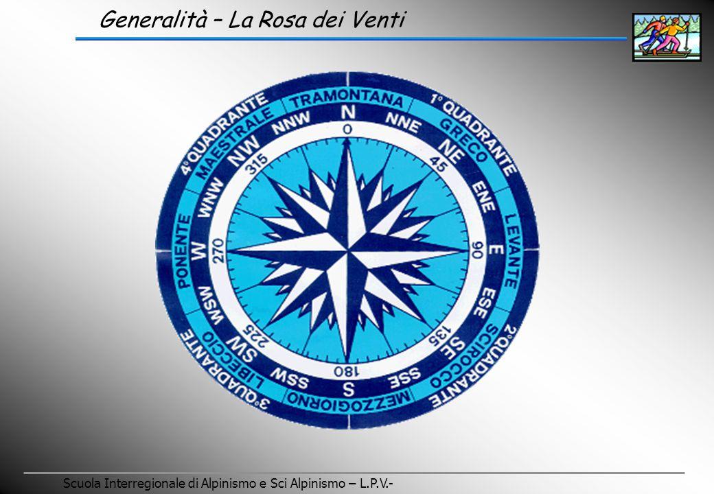 Scuola Interregionale di Alpinismo e Sci Alpinismo – L.P.V.- Generalità – La Rosa dei Venti