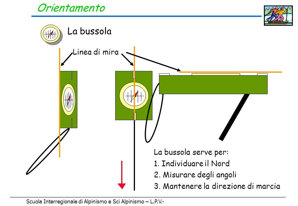Scuola Interregionale di Alpinismo e Sci Alpinismo – L.P.V.- Orientamento La bussola
