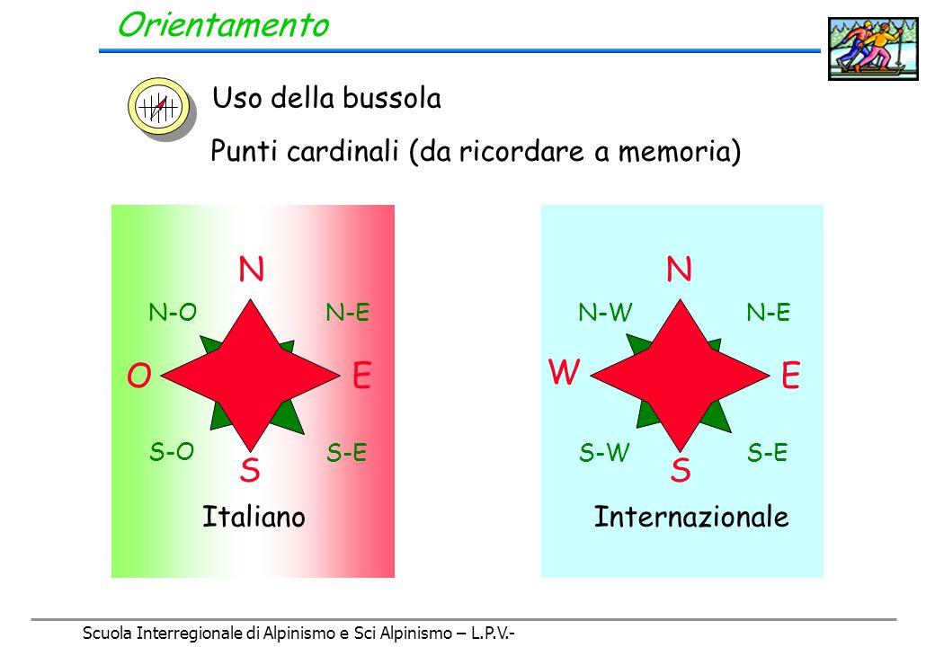 Scuola Interregionale di Alpinismo e Sci Alpinismo – L.P.V.- Orientamento La bussola La bussola serve per: 1.
