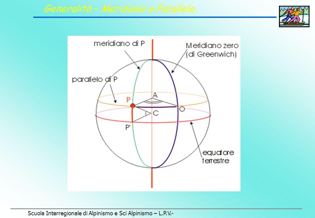 Scuola Interregionale di Alpinismo e Sci Alpinismo – L.P.V.- I PRINCIPALI SISTEMI DI PROIEZIONE Topografia