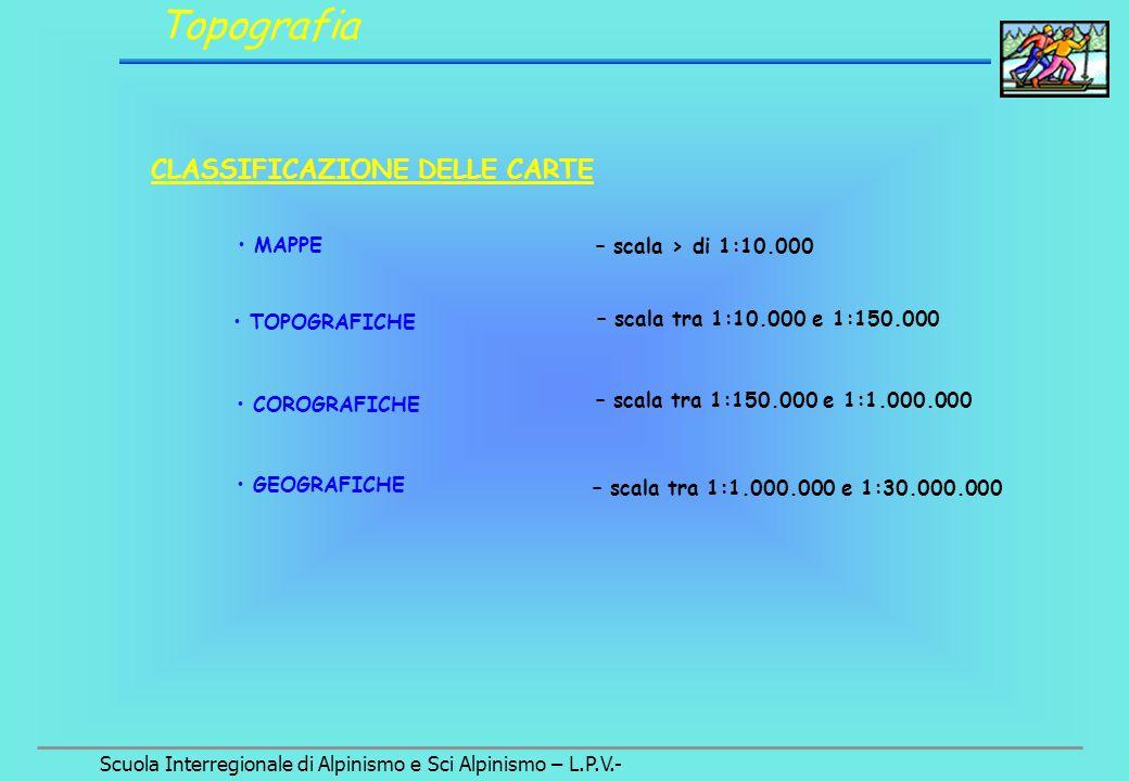 Scuola Interregionale di Alpinismo e Sci Alpinismo – L.P.V.- Orientamento Uso della bussola : l'azimut di un punto sul terreno Polo Nord (magnetico) Azimut = misura, in senso orario, dell'angolo  (75 °) P 10 18 28 36 2 4 6 8 12 14 16 20 22 24 26 30 32 34 N P 10 18 28 36 2 4 6 8 12 14 16 20 22 24 26 30 32 34 N Polo Nord (magnetico) 