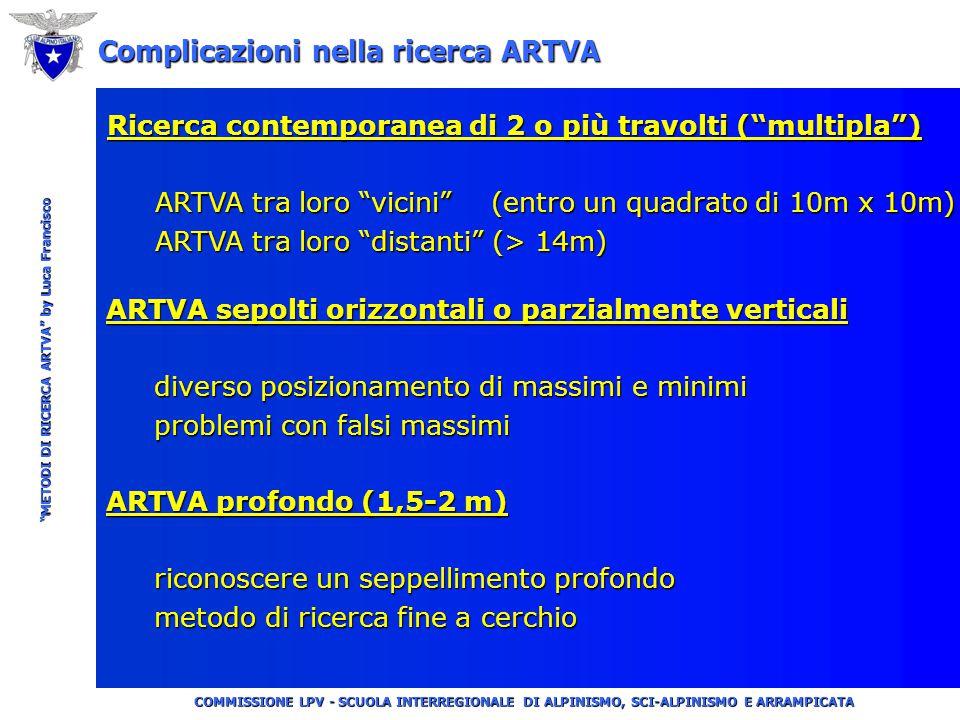 """COMMISSIONE LPV - SCUOLA INTERREGIONALE DI ALPINISMO, SCI-ALPINISMO E ARRAMPICATA """"METODI DI RICERCA ARTVA"""" by Luca Francisco QUESTA PARTE HA LO SCOPO"""