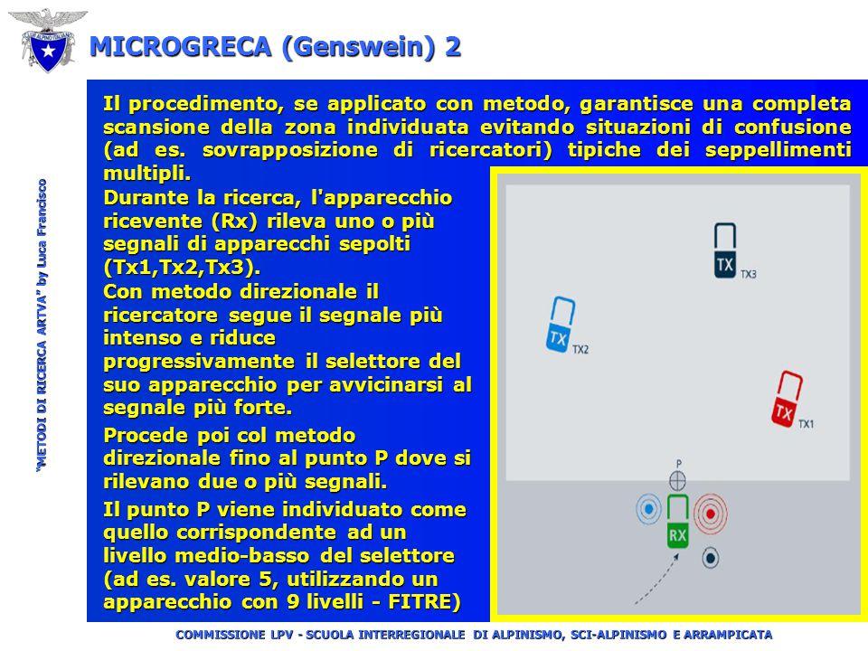 """COMMISSIONE LPV - SCUOLA INTERREGIONALE DI ALPINISMO, SCI-ALPINISMO E ARRAMPICATA """"METODI DI RICERCA ARTVA"""" by Luca Francisco MICROGRECA (Genswein) 1"""