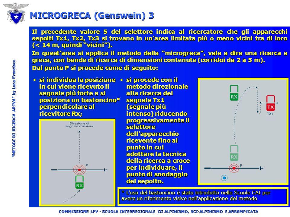 """COMMISSIONE LPV - SCUOLA INTERREGIONALE DI ALPINISMO, SCI-ALPINISMO E ARRAMPICATA """"METODI DI RICERCA ARTVA"""" by Luca Francisco MICROGRECA (Genswein) 2"""