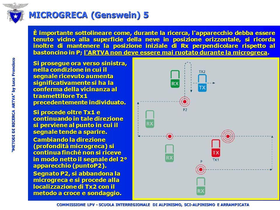 """COMMISSIONE LPV - SCUOLA INTERREGIONALE DI ALPINISMO, SCI-ALPINISMO E ARRAMPICATA """"METODI DI RICERCA ARTVA"""" by Luca Francisco MICROGRECA (Genswein) 4"""