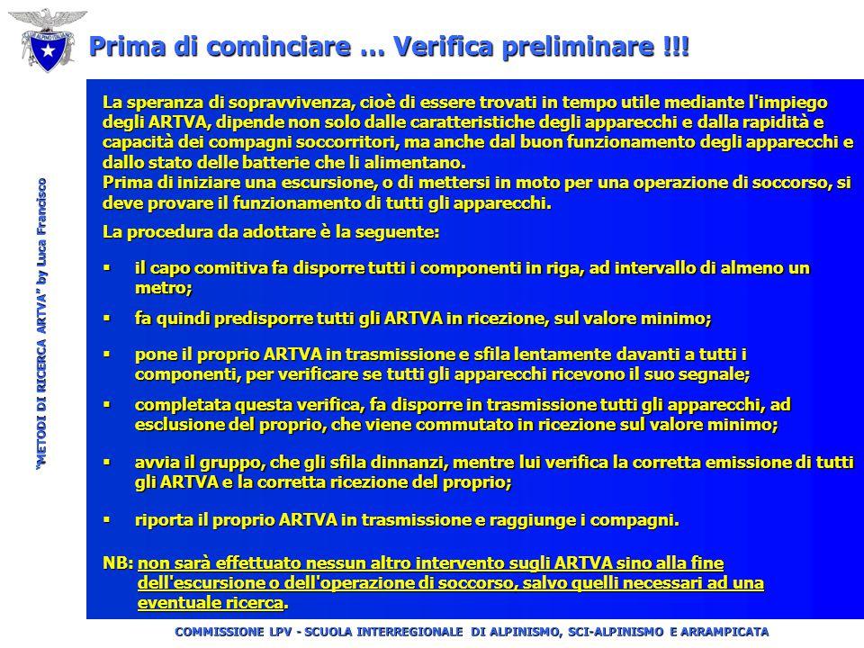 """COMMISSIONE LPV - SCUOLA INTERREGIONALE DI ALPINISMO, SCI-ALPINISMO E ARRAMPICATA """"METODI DI RICERCA ARTVA"""" by Luca Francisco Definizione di A.R.T.VA."""