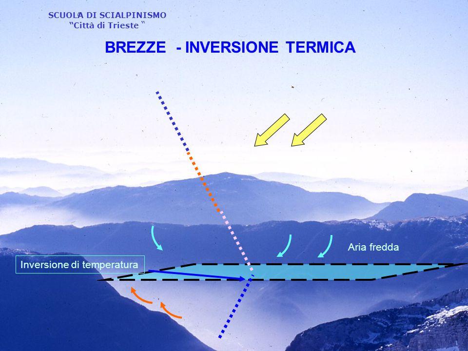 """SCUOLA DI SCIALPINISMO """"Città di Trieste """" Aria fredda Inversione di temperatura BREZZE - INVERSIONE TERMICA"""