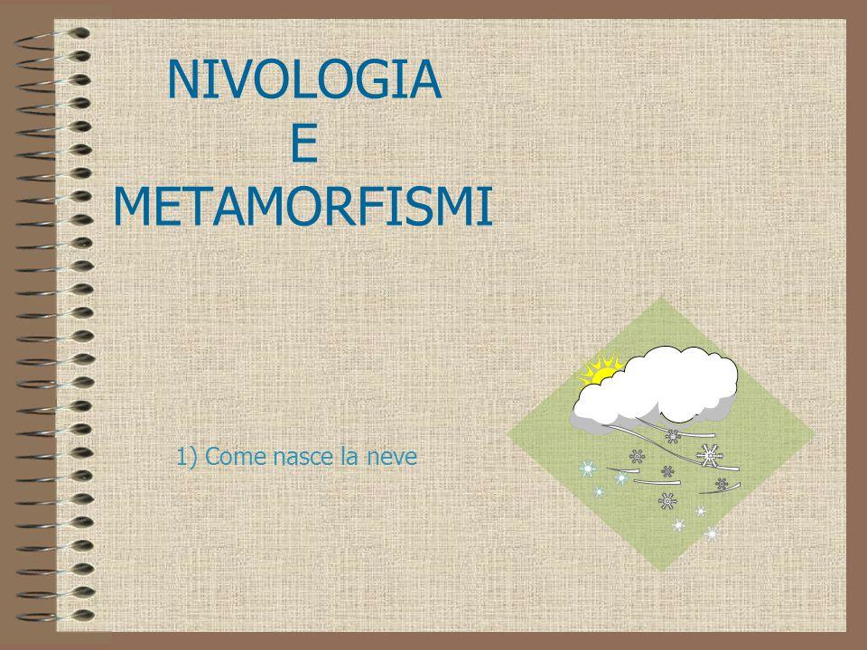 NIVOLOGIA E METAMORFISMI 1) Come nasce la neve