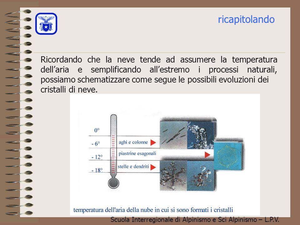Scuola Interregionale di Alpinismo e Sci Alpinismo – L.P.V. In circostanze diverse, può capitare invece che i cristalli di ghiaccio catturino le gocci