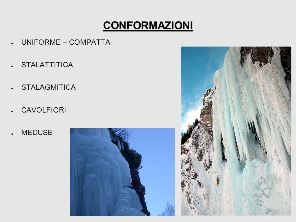 CONFORMAZIONI ● UNIFORME – COMPATTA ● STALATTITICA ● STALAGMITICA ● CAVOLFIORI ● MEDUSE