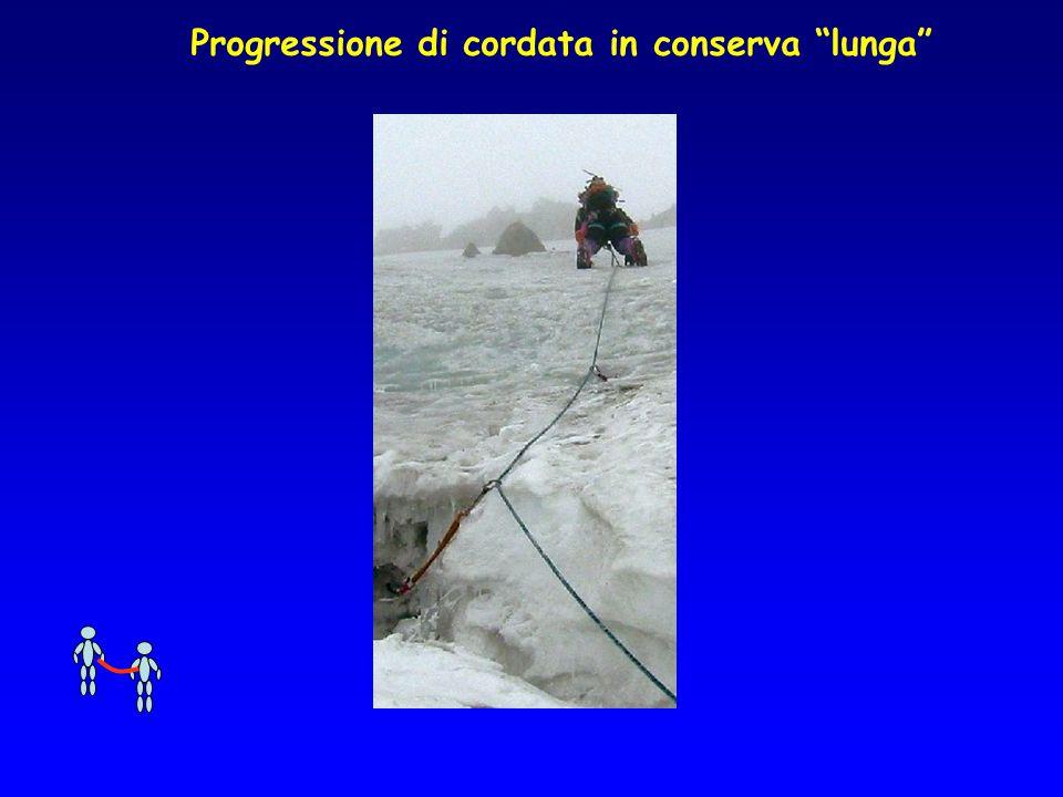 """Progressione di cordata in conserva """"lunga"""""""
