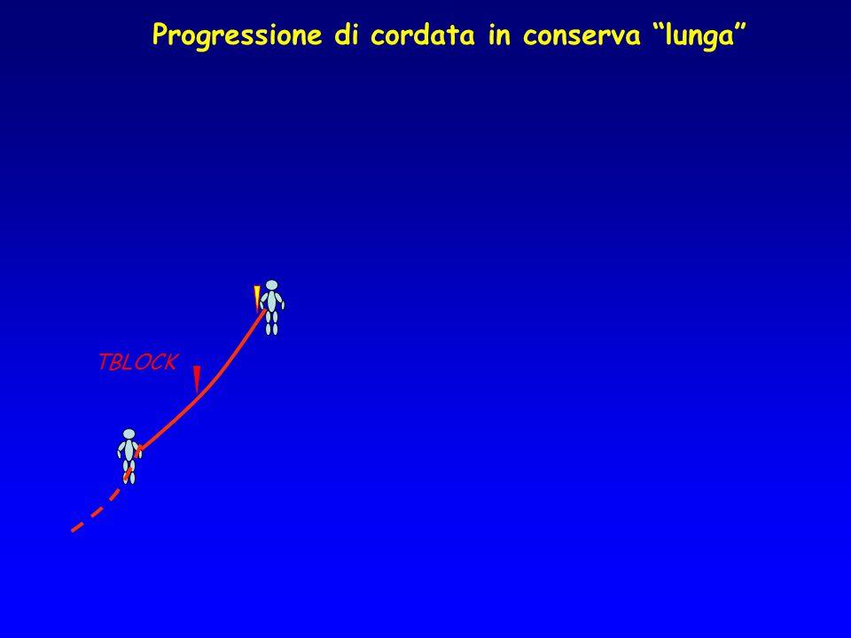 """Progressione di cordata in conserva """"lunga"""" TBLOCK"""