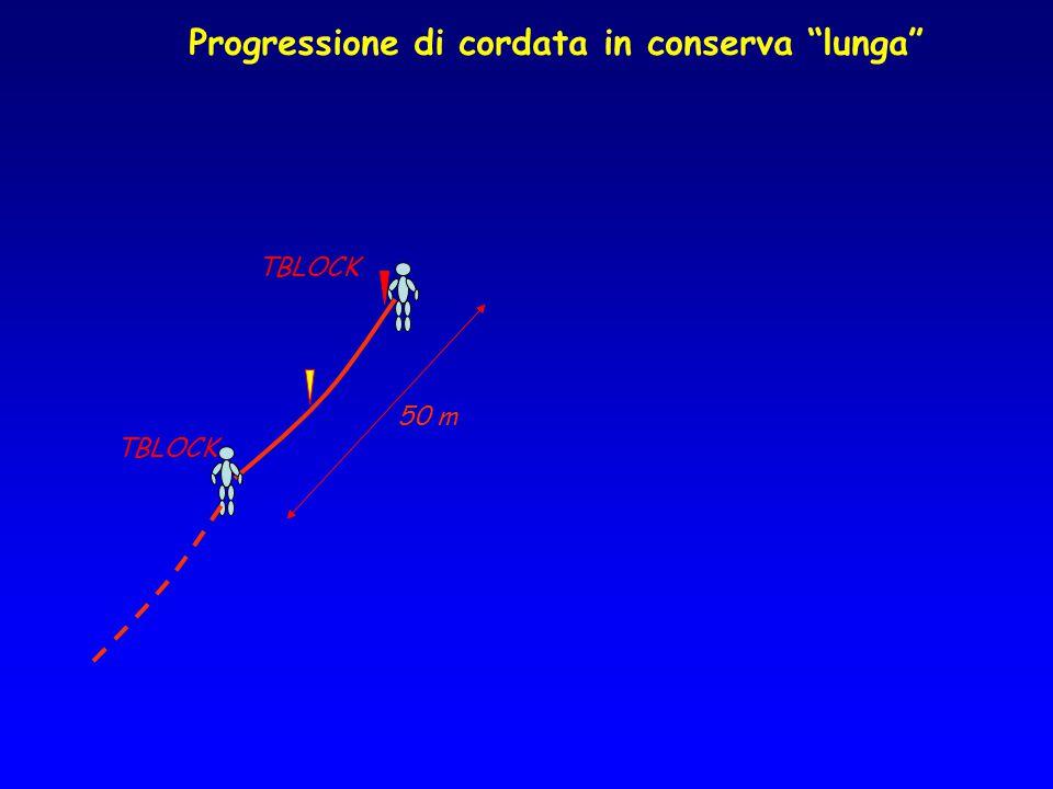 """Progressione di cordata in conserva """"lunga"""" TBLOCK 50 m"""