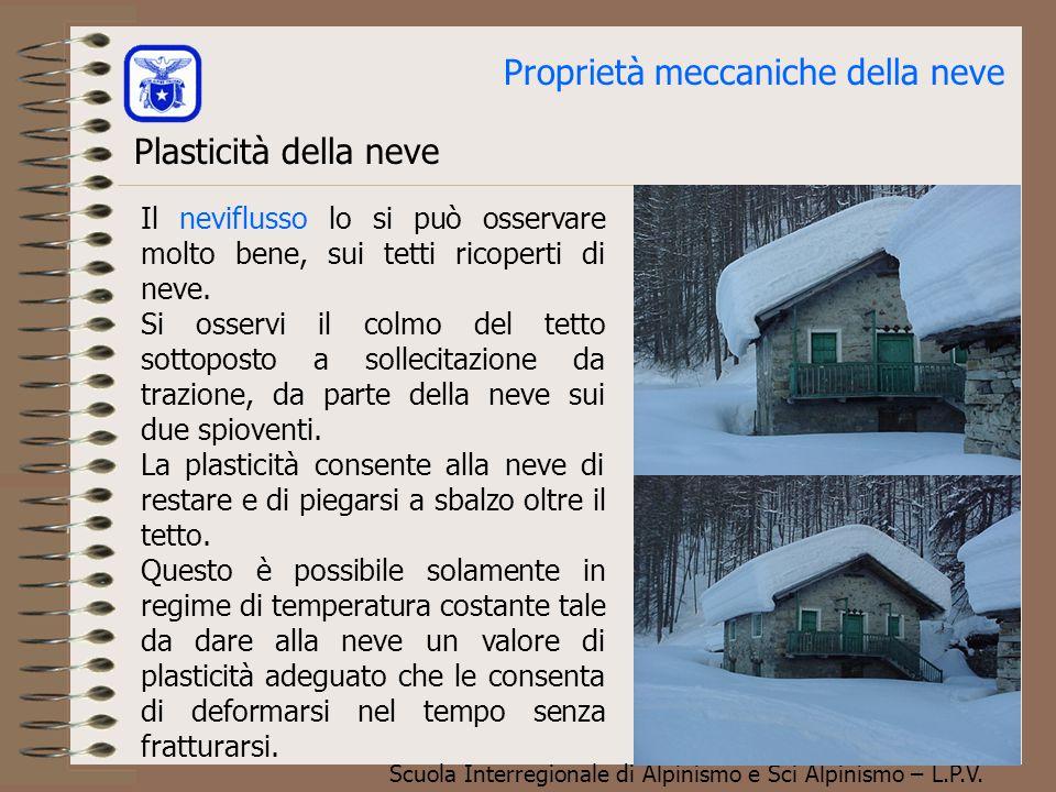 Scuola Interregionale di Alpinismo e Sci Alpinismo – L.P.V. Le tensioni nel manto nevoso. Tipica linea di frattura del manto nevoso in corrispondenza