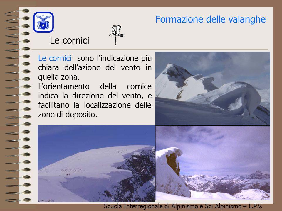 Scuola Interregionale di Alpinismo e Sci Alpinismo – L.P.V. Formazione delle valanghe Valanga a lastroni (formazione) Il vento è il costruttore di val