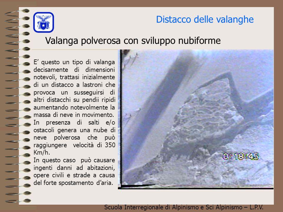 Scuola Interregionale di Alpinismo e Sci Alpinismo – L.P.V. Valanga a lastroni (distacco a distanza) Foto M. Chierici INSA - INV La foto a lato mostra