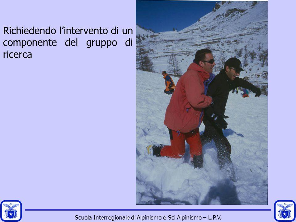 Scuola Interregionale di Alpinismo e Sci Alpinismo – L.P.V. Richiedendo l'intervento di un componente del gruppo di ricerca
