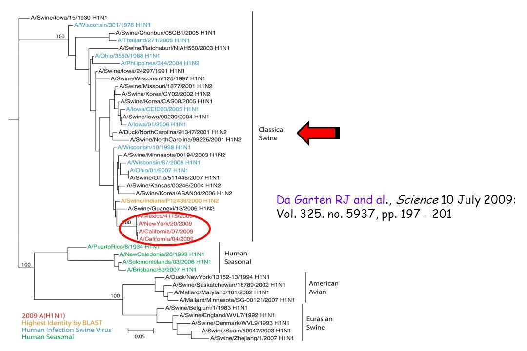 Da Garten RJ and al., Science 10 July 2009: Vol. 325. no. 5937, pp. 197 - 201