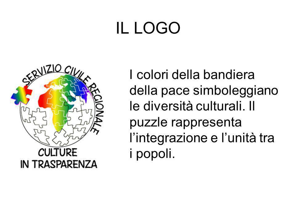 IL LOGO I colori della bandiera della pace simboleggiano le diversità culturali.