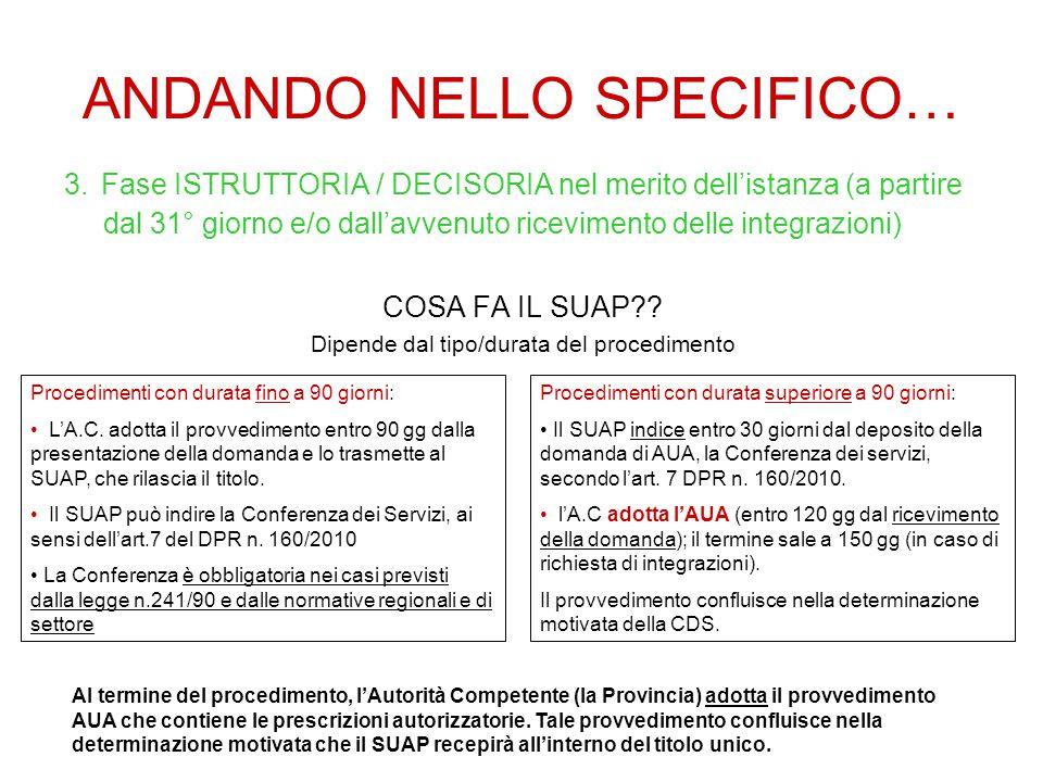 ANDANDO NELLO SPECIFICO… 3.
