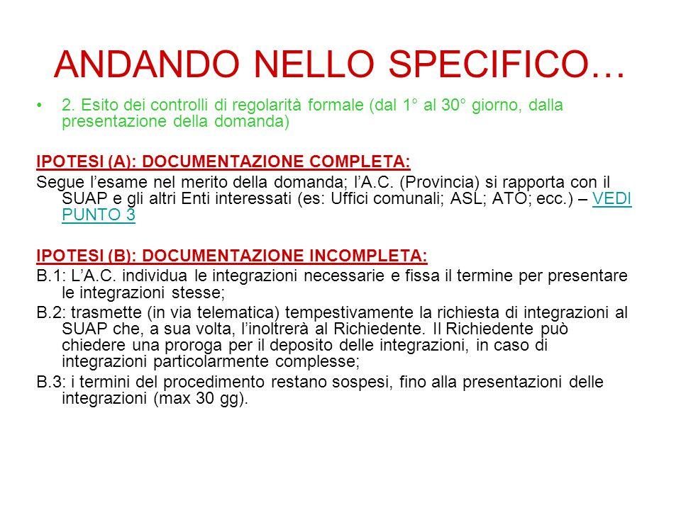 ANDANDO NELLO SPECIFICO… 2.