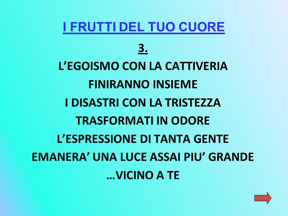I FRUTTI DEL TUO CUORE 3.