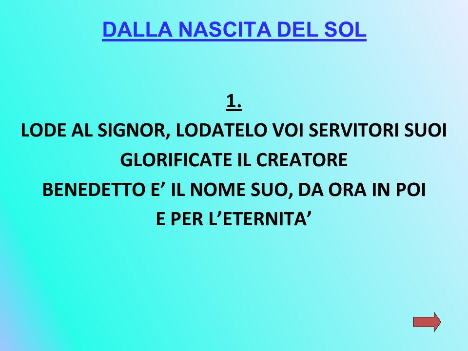 DALLA NASCITA DEL SOL 1.
