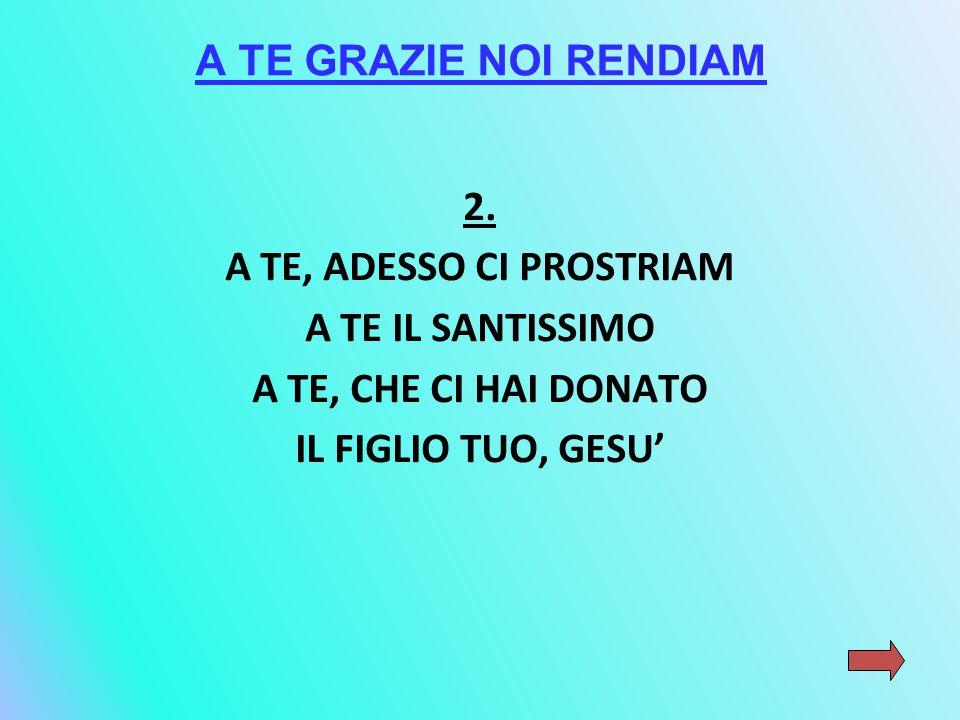 A TE GRAZIE NOI RENDIAM 2.