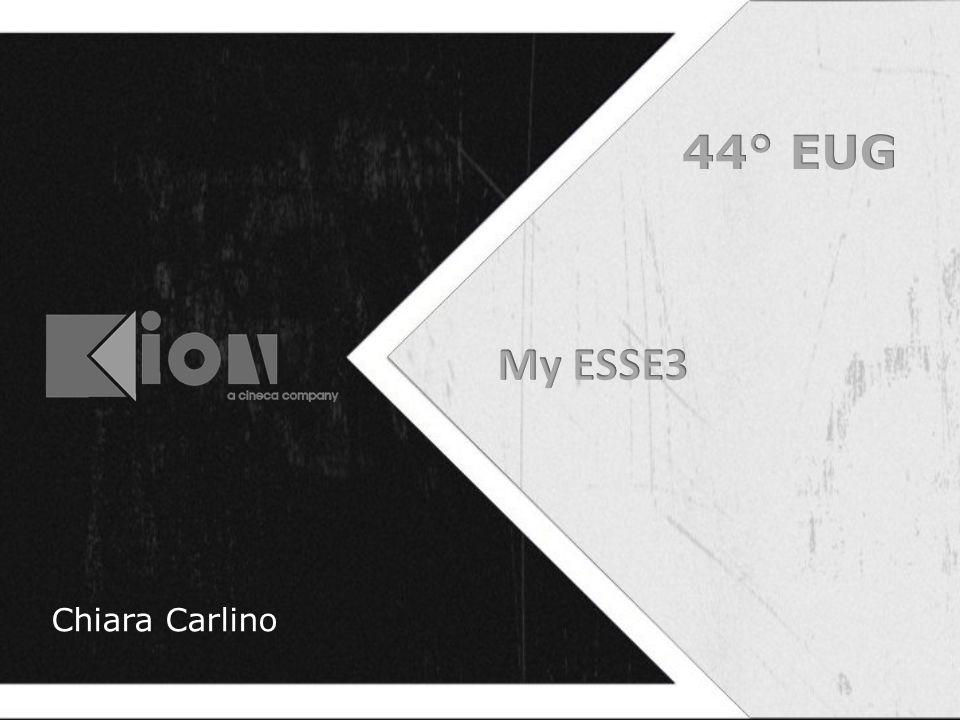 My ESSE3 Web Home studente Personalizzata Menu ESSE3 riorganizzato Menu dell'area pubblica sempre disponibile Pannelli – Status – Dati personali – Funzioni utili – Documenti e messaggi
