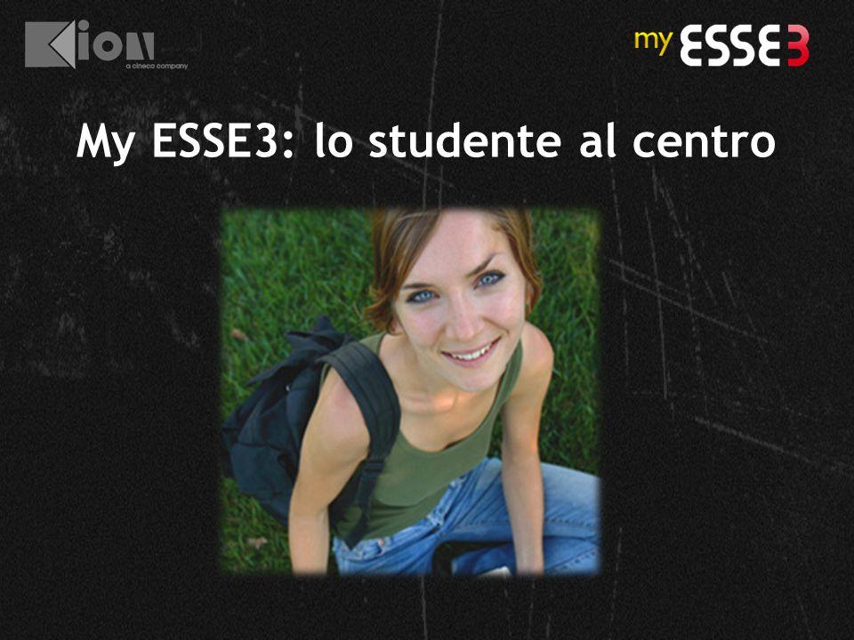 My ESSE3: lo studente al centro
