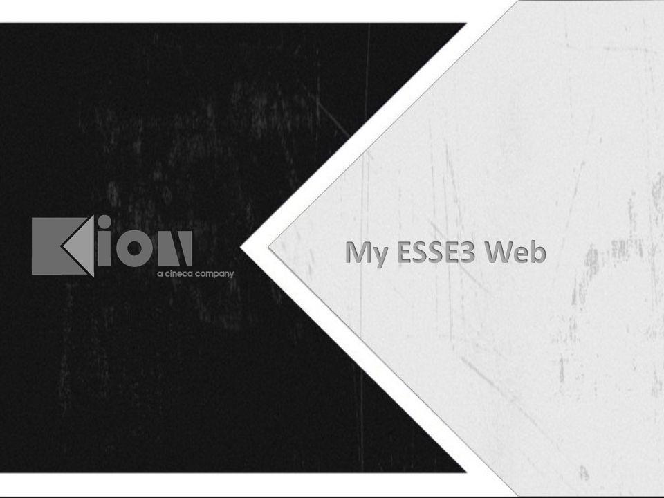 My ESSE3 Web Le Guide On Line – per offrire a ciascuno il proprio percorso – per la presentazione dell'offerta formativa La nuova home dello studente, per presentare allo studente tutte le funzioni di cui ha bisogno