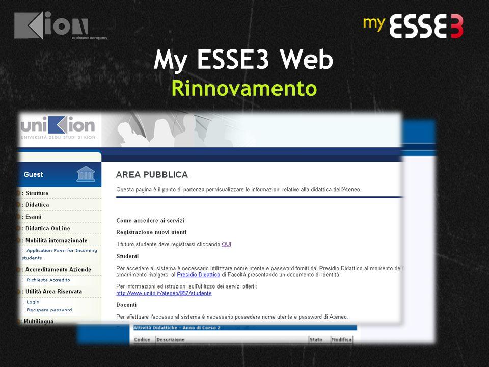My ESSE3 Web Rinnovamento