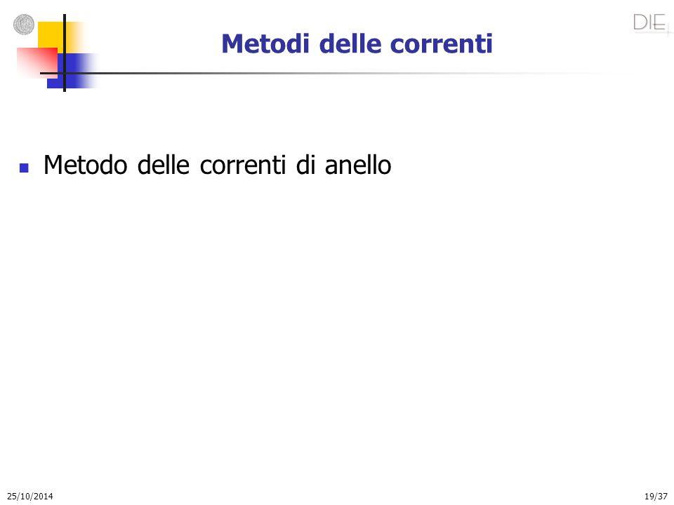 25/10/2014 19/37 Metodi delle correnti Metodo delle correnti di anello