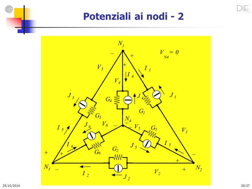 25/10/2014 39/37 Potenziali ai nodi - 2