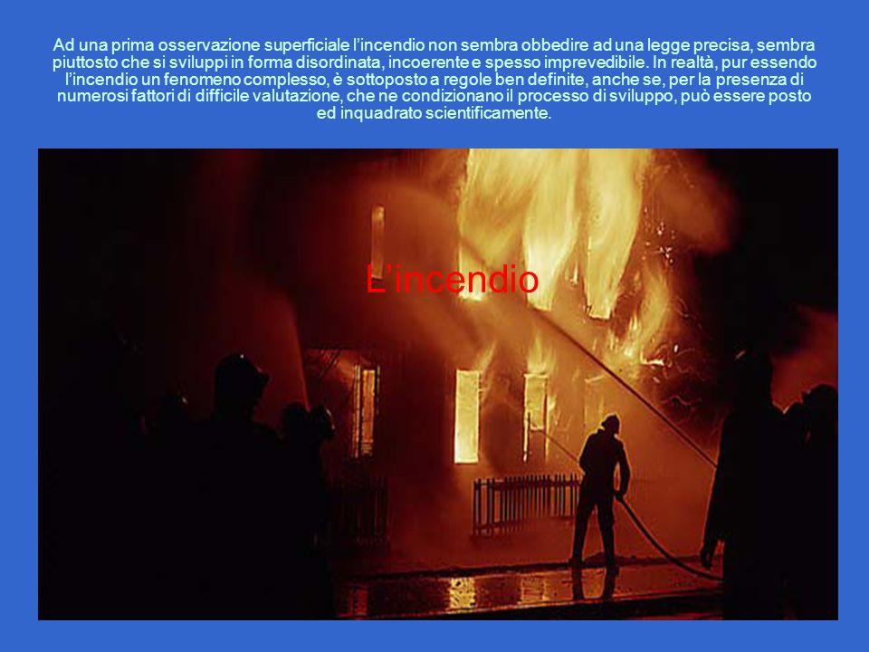 Ad una prima osservazione superficiale l'incendio non sembra obbedire ad una legge precisa, sembra piuttosto che si sviluppi in forma disordinata, inc