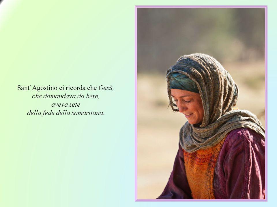 E cosa fa Gesù? Per introdurre un dialogo che trasformerà la vita di quella donna, chiede un po' d'acqua a Lui, che dirà: «Io sono l'acqua viva disces